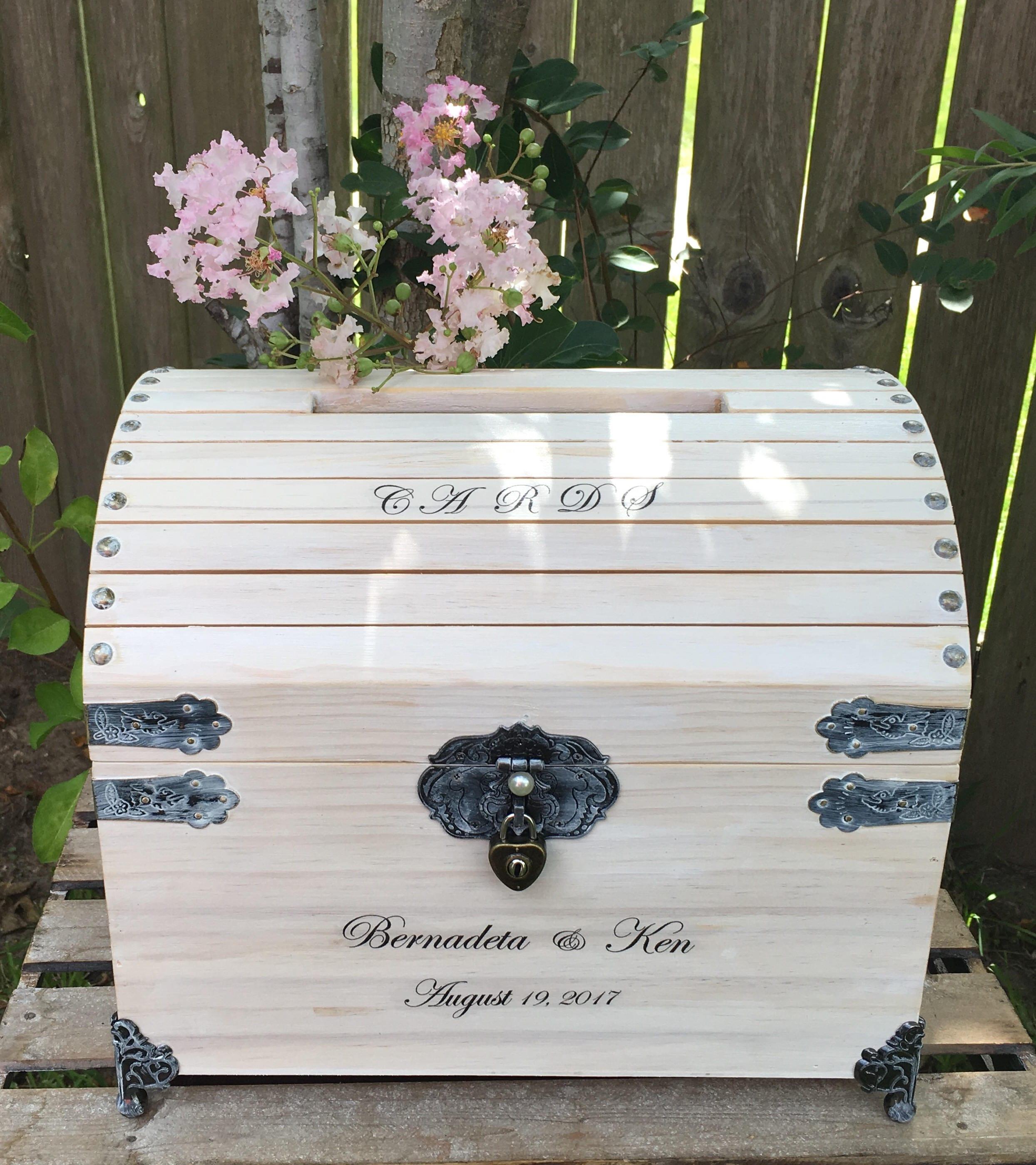 Large Wedding Card Box - 12.75 Wedding Card Box With Lock - Wishing ...