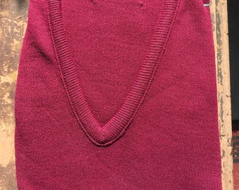 1970s Sears Kings Road Shop V Neck Sweater
