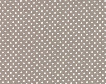 END of BOLT ~ 10 inches ~ Moda Dottie Small Dots in Stone 45009-62 Grey Gray Stash Builder Sale