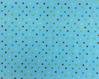 Robert Kaufman Pimatex Basics, Summer, (BKT-6003-193), polkadots, teal, basics