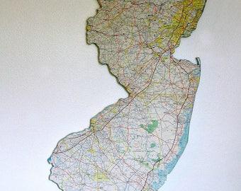 New Jersey State Map Etsy - New jersey state map