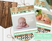 Boys First Birthday Photo Banner - 1st Teal Black and gold - Wild One Birthday -  Instant Download