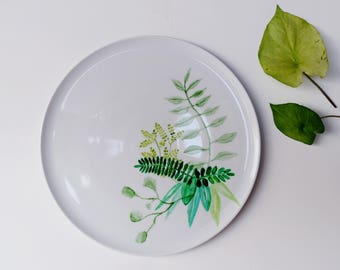 Hand Painted Watercolor Platter
