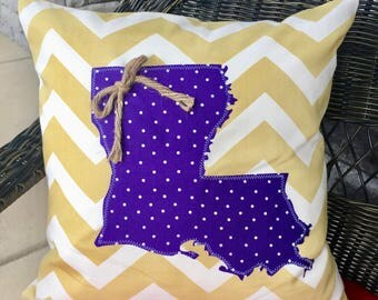 Louisiana State Pillow Cover