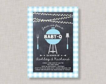 BBQ Baby Shower Invitation, Baby Q Invitation, Baby Q, Couples Shower, Coed, Boy Baby Shower Invitation, Picnic, Barbecue, BBQ Baby Shower