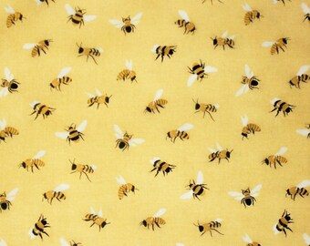 Bumble Bee Fabric, Studio E Fabrics, Save Our Bees Collection, Quilting Crafting Sewing Fabric, Cotton Fabric, Novelty Fabric, Summer Fabric