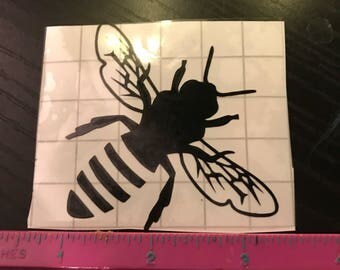 Black bee decal