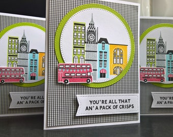 Funny Love Card, You're All That, British Humor, Valentine's Day Card, Card for Husband, Boyfriend Love Card, London Gift, London Bus