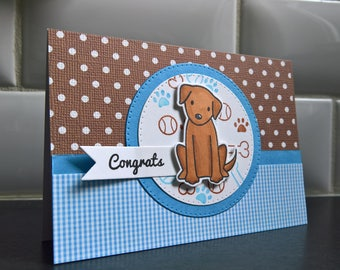 New Dog Card, New Puppy Card, Congratulations on Your New Puppy Card