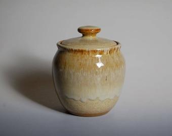 Small pottery lidded jar