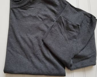 Clearance long sleeve grey tee