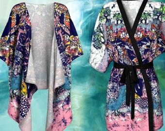 Kimono Cardigan - Magical Birds Batik