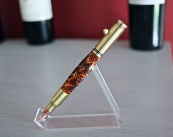 Antique Brass Bullet Bolt Action Pen - Molten Metal
