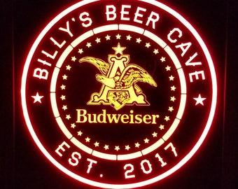 Custom Budweiser Light multi color led Sign