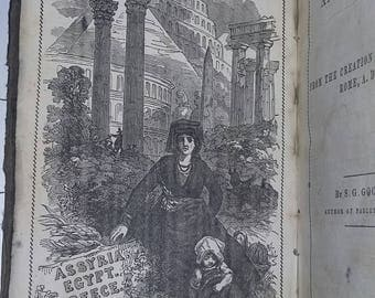 Antique Rare Book Ancient World History Goodrich 1847