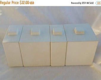 CHRISTMAS in JULY SALE Set of Four Plain Minimalist Volltex Industries Canisters
