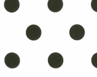 SALE, Moda Dottie, Polka Dots White/Black Dots, 45008 17, Medium Sized Black Polka Dots