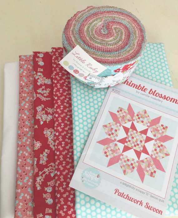 Little Ruby Quilt Kitthimble Blossoms Patchwork Swoon