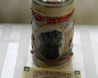 Vintage Budweiser MAN'S BEST FRIEND Series, Labrador Stein