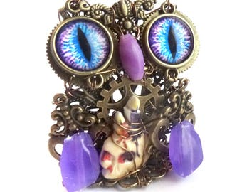 Steampunk OWL figurine: Twilight