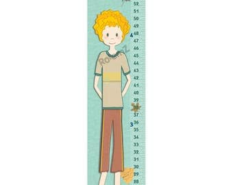 Toddler Boys Growth Chart - Personalized Skateboard Decor