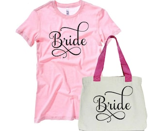 Iron-Ons Bridal Party Bachelorette Party Heat Transfer Iron Ons Wedding Party Bridesmaid Bride Maid of Honor T Shirt Tote Bags