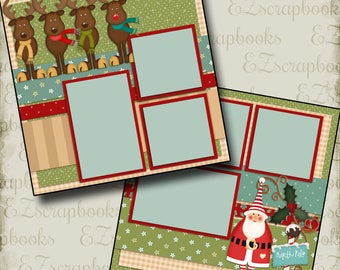 OLD St NICK - 2 Premade Scrapbook Pages - EZ Layout 439