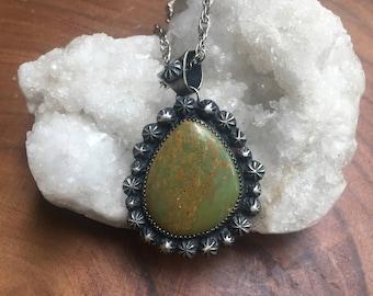 Turquoise Starburst Pendant Necklace