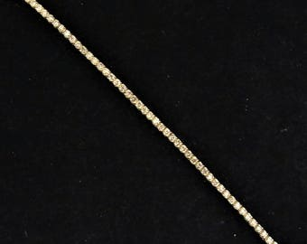 Vintage 3.5 Carats Diamond 14k Yellow Gold Tennis Bracelet Estate Jewelry LAYAWAY AVAILABLE