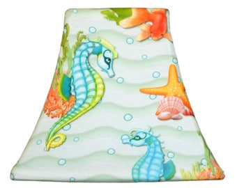 Seahorse Dance - SLIP COVERS for lampshades