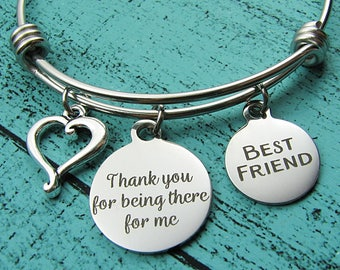 best friend gift, friendship bracelet, bff gift, friends forever, besties gift, thank you for being there for me, friends birthday Christmas