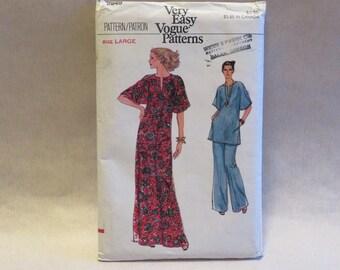 Vintage Vogue 9949 Caftan Pants Sewing Pattern Large L FF