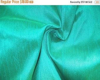 15% off on One yard  Aqua blue pure dupioni silk