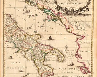 1708 Map of Italy