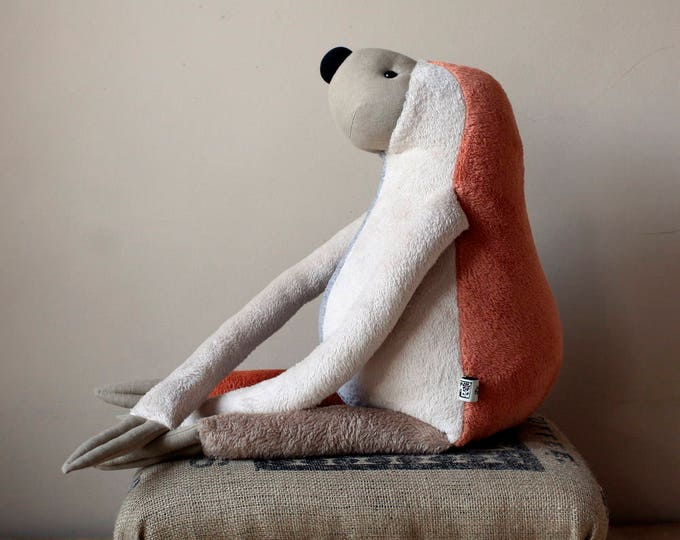 XXL Sloth Soft Plush, Valentine's day special, One-of-a-kind, Ready-to-ship, OoaK, RtS, XXL size stuffed plush animal toy for children