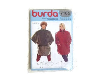 Burda patterns vintage pattern cape pattern Burda 7165 vintage sewing tutorial coat pattern uncut pattern vintage Burda tutorial