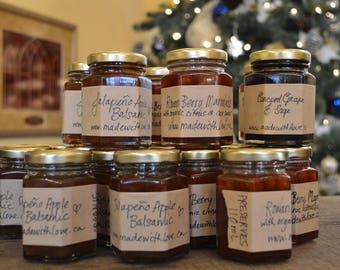 Foodie Gift Organic Preserves Jams, Jellies, Pepper Balsamic Organic Jam with Cane Juice Sugar & Locally Grown Handpicked Fruit Jam 110 mL