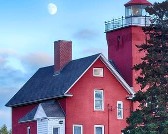 North Shore photography//Lighthouse print//Lake Superior photography//minnesota art