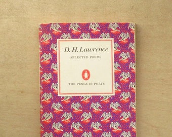 Penguin Poets paperback D. H. Lawrence poetry book Selected Poems. Vintage 1960s edition.