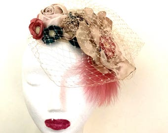 Vintage Inspired Floral Headpiece