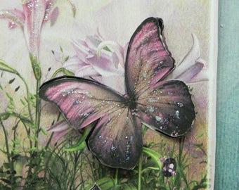 Lililicious Lilies and Butterfly card
