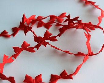 Red Bow Satin Cutouts - Christmas Garland