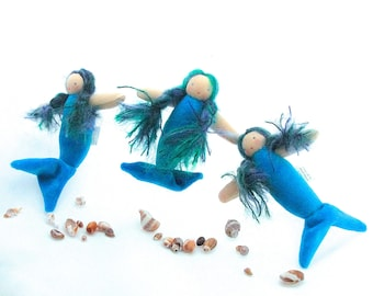 Mermaid doll // waldorf toy // waldorf doll // little merbaby // natural toy // ready to ship toy