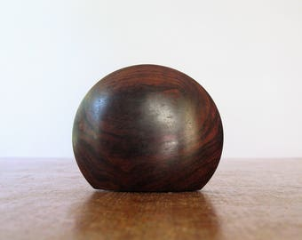 Vintage Danish Modern All in One Salt / Pepper Shaker Rosewood Disc