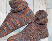 Hand KNITTED WOOL SOCKS  - merino - unisex socks   Araucania 100% wool yarn- stunning colours  - Hand made and finished with care - winter