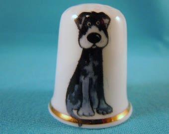 Thimble Bone China with Dog