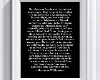 CUSTOM Marianne Williamson Quote - 11x14 - poster print