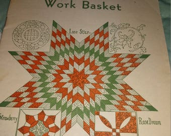 """Aunt Martha's WorkBasket c1930""""s CATALOG 24 pages colored"""