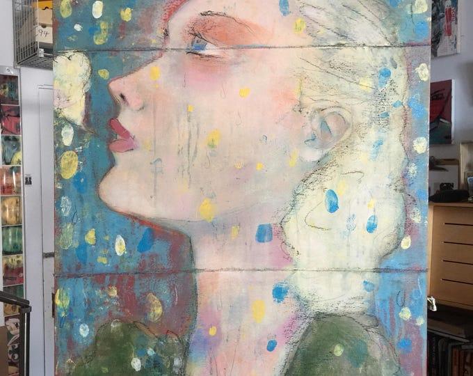 The Reverie / original painting on cradled wood / fine art / art gift / art lover / wall art / home decor