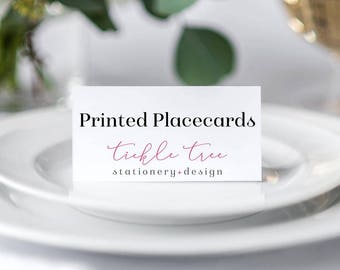 Folded Place Cards - Any Shop Design